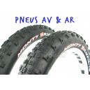 Pair of Monty Pro race tyres (front+rear)