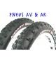 Paire pneus Monty Pro race (AV+AR)