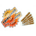 Set of 8 TRIALPROD stickers