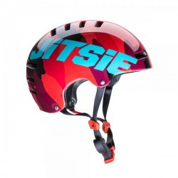Casque Armor-Jitsie Squad rouge-turquoise