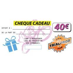 Chèque cadeau Trialprod 40€