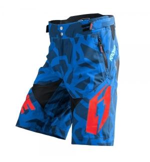 Short Jitsie B3 Kroko bleu / rouge