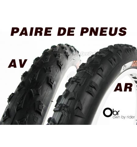 Paire pneus OBR Gekok (AV+AR)