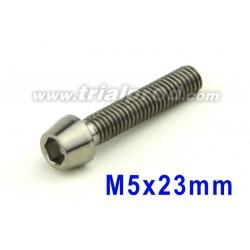 Titanium bolt M5 x 23mm