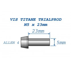 Ti Bolts for HS33 M5x23 (4 pc.)