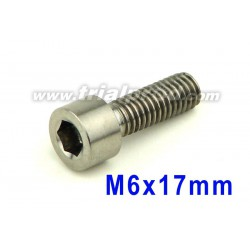 Titanium bolt M6 x 17mm