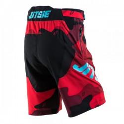 Short Jitsie B3 Squad rouge-turquoise