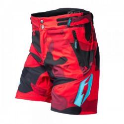 Short Jitsie B3 Squad Enfants rouge-turquoise