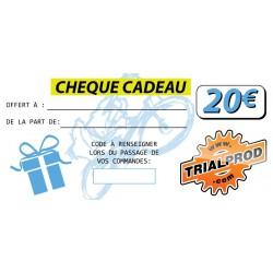 Chèque cadeau trialprod 20€