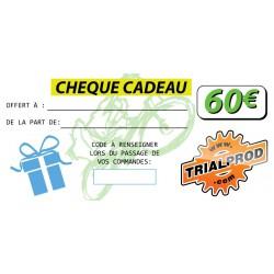 Chèque cadeau Trialprod 60€