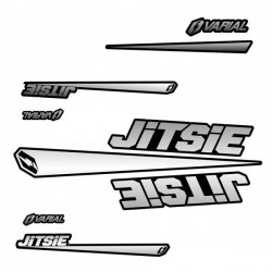 Kit autocollants Jitsie silver