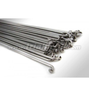 Spokes double butted (1 pc) silver