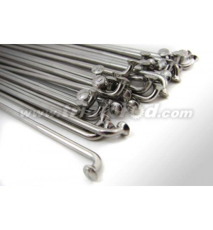 Spokes double butted (32 pcs) silver