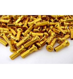 Nipples alloy 14mm (32 pcs) gold