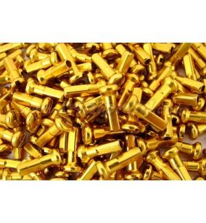 Nipples alloy 14mm (32 pcs) gold