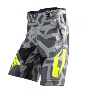 Shorts Jitsie B3 Kroko Grey / fluo yellow