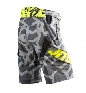 Shorts Jitsie B3 Kroko Grey / fluo yellow