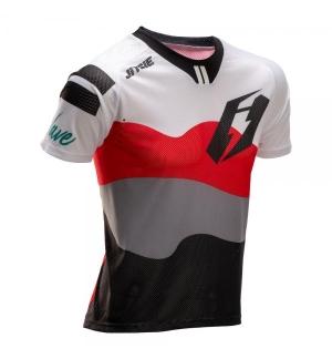 Maillot Jitsie B3 Wave blanc-rouge-noir
