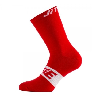 Chaussettes Jitsie Solid Rouge-blanc