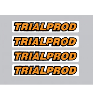 Set of 4 TRIALPROD stickers