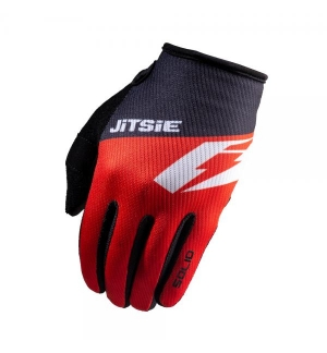 Gloves Jitsie Solid Red-Black