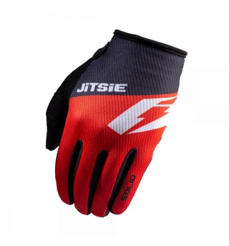 Gloves Jitsie Solid Red-Black