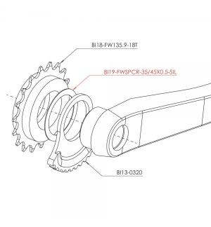 Entretoise Jitsie pour roue libre - 0.5mm