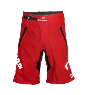 Shorts Comas RED-black-white