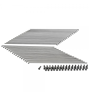 Rayons diamètre variable 2-1.8-2mm NOIR (lot de 32)