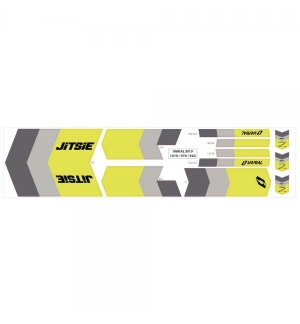Stikers kit for Jitsie Varial Frames Yellow/grey