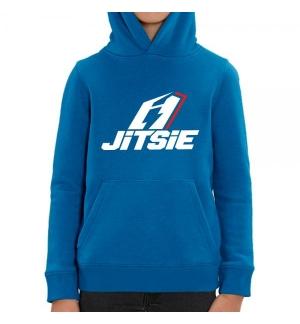 Sweat capuche Enfant Jitsie Stacked Bleu