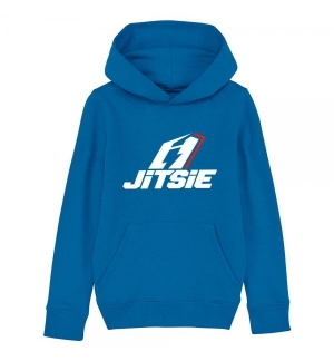 Sweat capuche Enfant Jitsie Stacked Bleu
